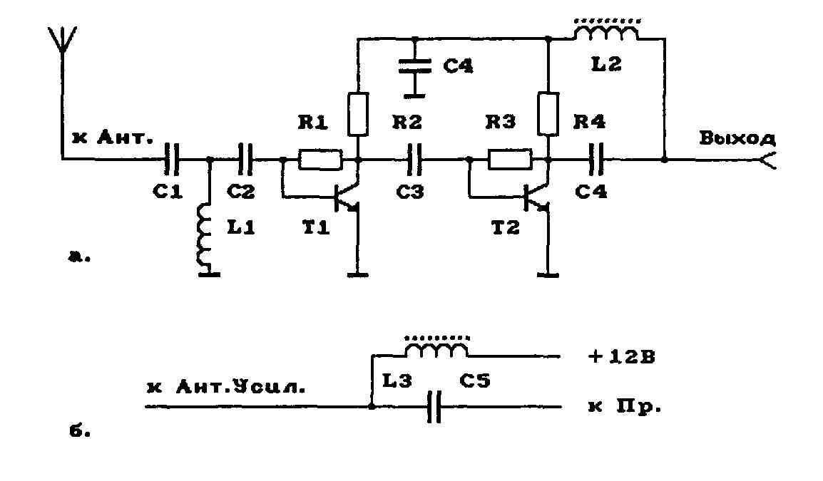 Схема подключения триколор тв к телевизору через вч.